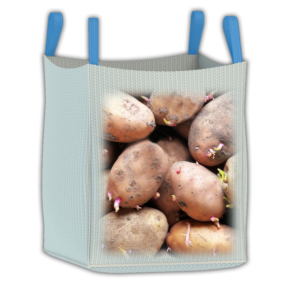 1000 kg vented fabric bulk bag for transporting potatoes, storing seed potatoes, and seasoning firewood