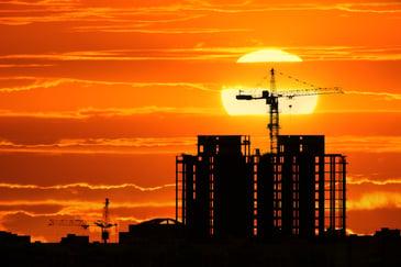 Crane Sunrise