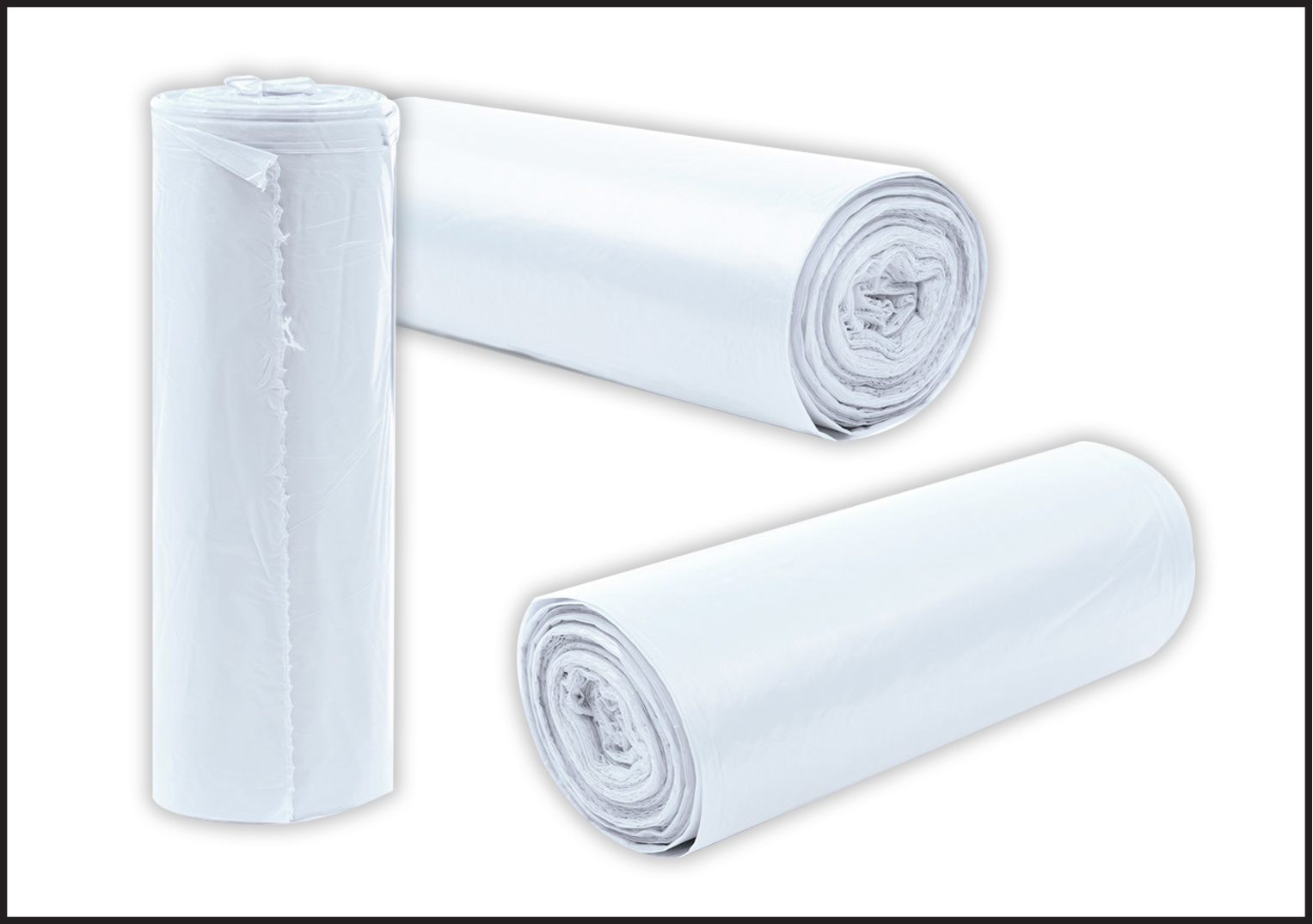 Polyethylene liners. Gusseted PE liners on rolls for bulk bag liners
