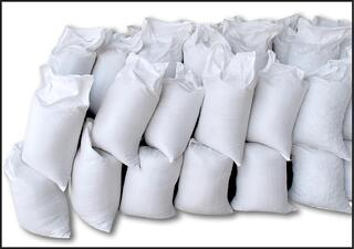 Poly Woven Sacks for grain, fertilizer, firewood, seed, grass seed, flood bags, sandbags.