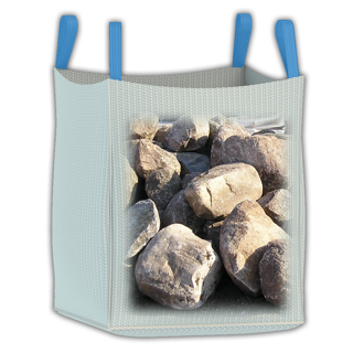 4000 lb heavy duty bulk bag for craning operations, large landscaping stones, and larger loads.