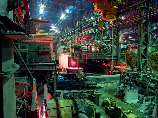 Industrial metallurgic plant in full operation